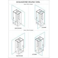 Душевая кабина Acquazzone Helena 120 SL-R без парогенератора